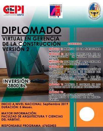 DIPLOMADO VIRTUAL EN GERENCIA DE LA CONSTRUCCIÓN V.2.